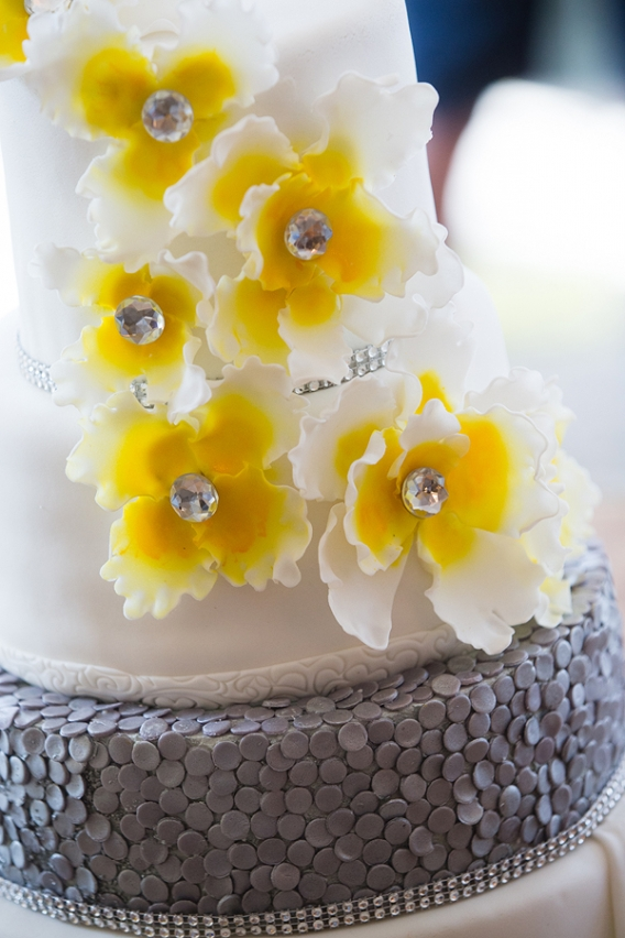 Yellow Flowers And Lighted Dangling Crystals To Add A Touch Of Elegance The Whole Look I Will Be Posting Pictures Dessert Table Sometime